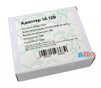 Адаптер 12W (12V 1A) Leds Power